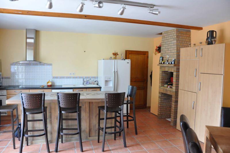 Cuisine avec salle a manger intgre salle manger table - Plaque de marbre pour cuisine ...